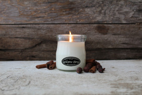 small cream jar candle, welcome home