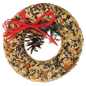wildfeast wreath, bird seed, gift