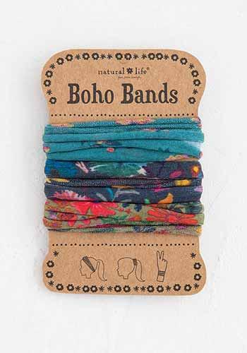 turquoise navy tan boho bands
