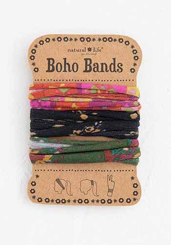pink black green boho bands