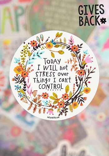 today I will sticker