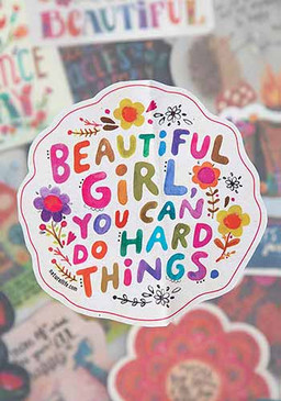 beautiful girl sticker