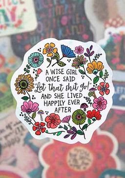 wise girl sticker