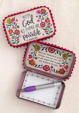 with God floral prayer box