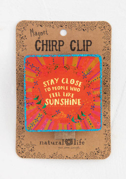sunshine chirp magnet clip