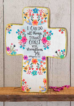 I can do all things wood cross