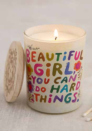 beautiful girl soy candle