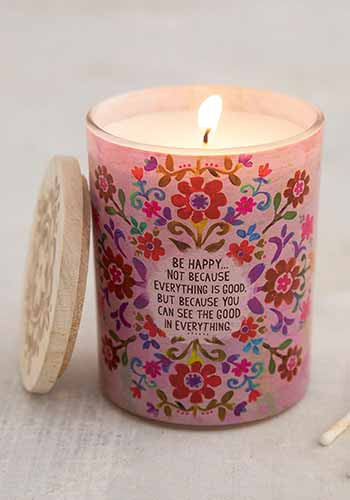 be happy soy candle