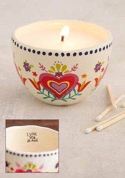 I love you secret message candle