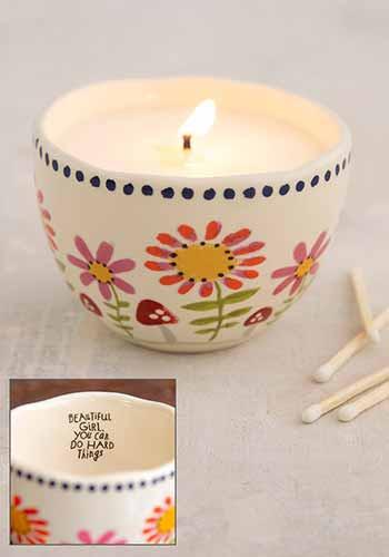 beautiful girl secret message candle