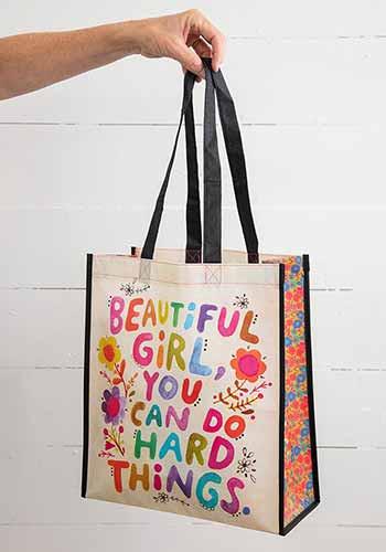beautiful girl XL happy bag