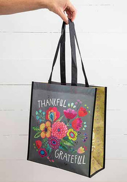 thankful grateful XL happy bag