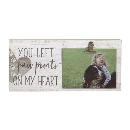 paw prints heart - picture clip