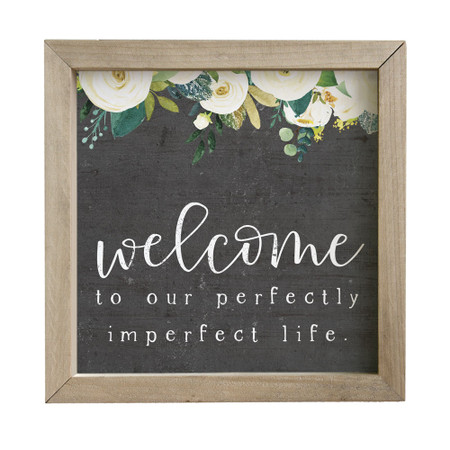 welcome rustic frame