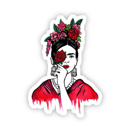 frida kahlo rose sticker