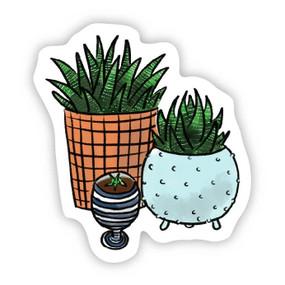 three houseplants sticker