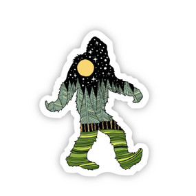 bigfoot nature sticker, 3 x 2.09 inches