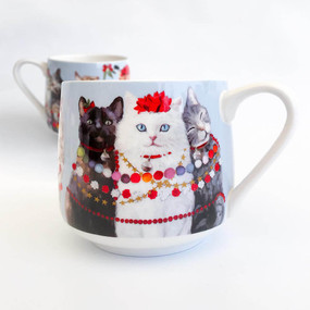 holiday collection - festive cat trio mug