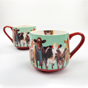 holiday collection - festive cow club mug