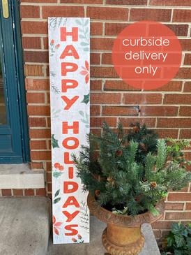 happy holidays porch board