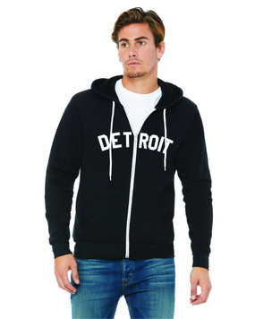 detroit full zip sweatshirt