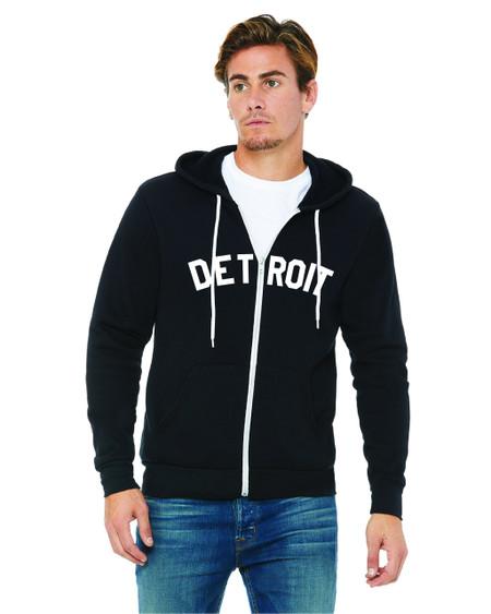 detroit full zip sweatshirt