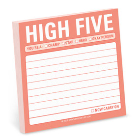 high five sticky note, 3 x 3 inches, 100 sheets