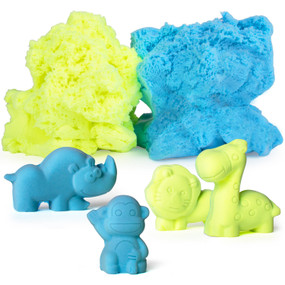 molds kit and foam dough, safari