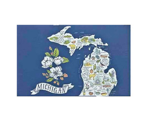 illustrated michigan postcard
