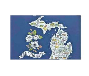 illustrated michigan postcard