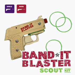 bandit blaster scout - rubber band gun craft kit