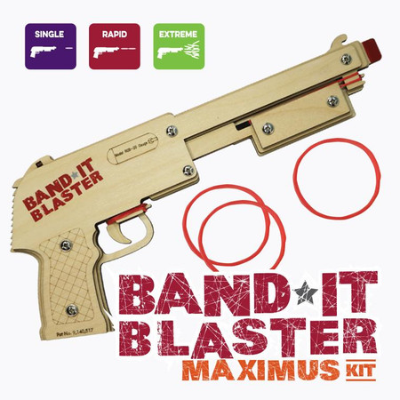 bandit blaster maximus - rubber band gun craft kit