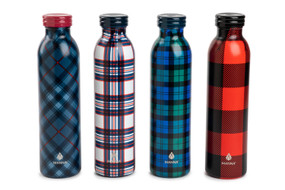 festive plaid 20 oz. water bottle