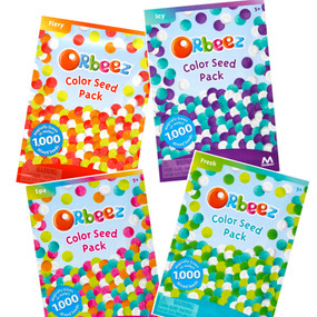 orbeez color seed pack, squishy and soft texture, sensory