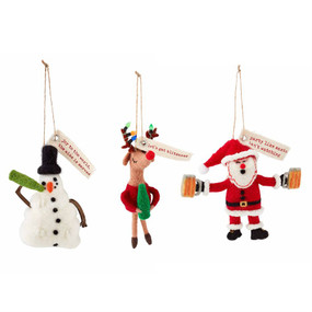 christmas drinking ornaments