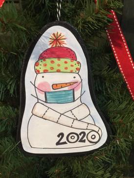 2020 snowman toilet paper ornament