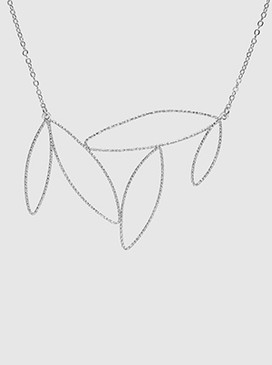 marquise pendant choker necklace, worn silver