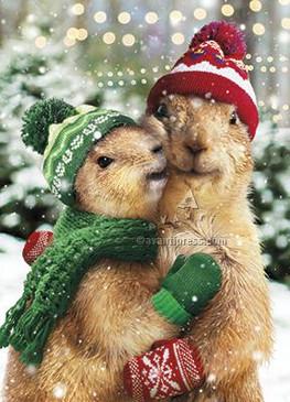 christmas prairie dogs | holiday
