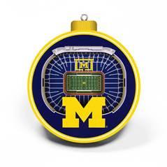 3-d university of michigan stadium ornament