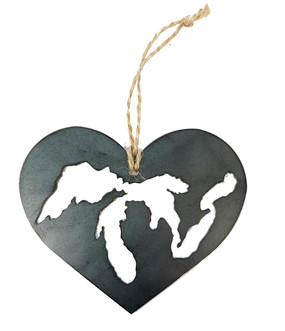 great lakes heart ornament