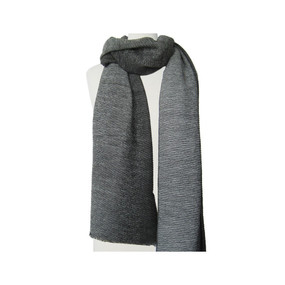 rippled shaded scarf, grey