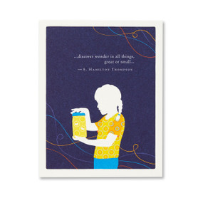 discover wonder in all things birthday card