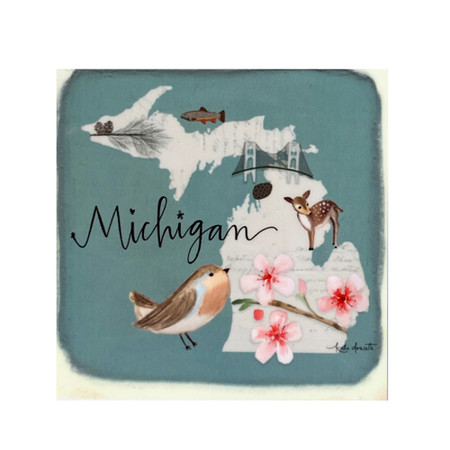 state symbols michigan magnet
