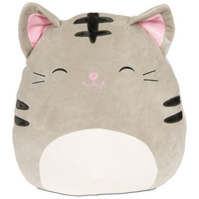 "tabby cat squishmallow 12"" grey"