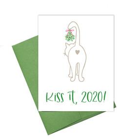 kiss it 2020 holiday card