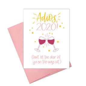 adios 2020 holiday card