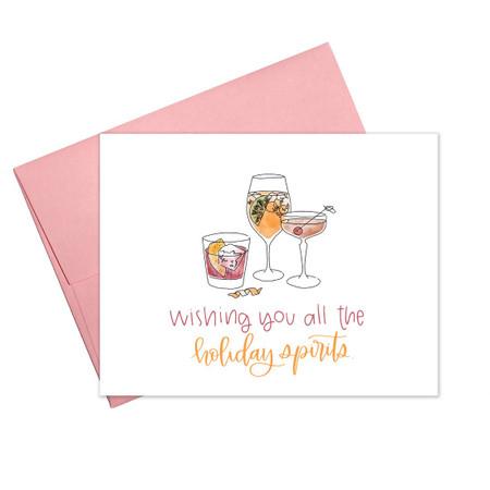 holiday spirits holiday card