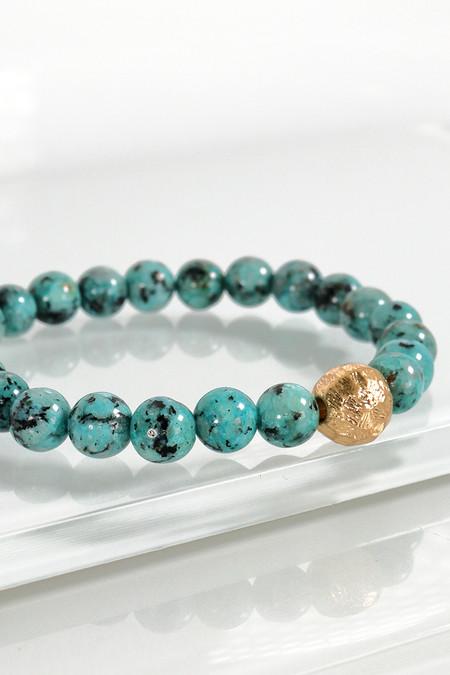 stone stretch bracelet, green