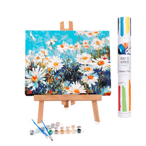 adult paint by number, Field of Daisies