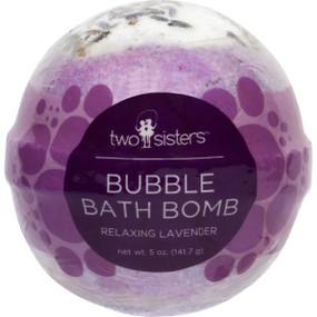 relaxing lavender bubble bath bomb